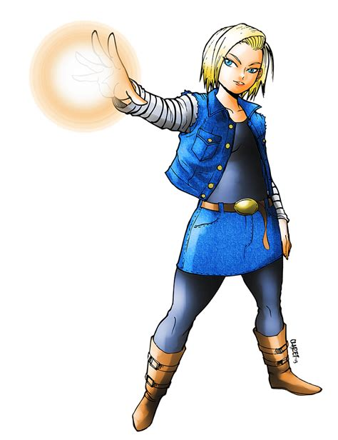 deviantart wallpaper anime android android 18 color by claret821021