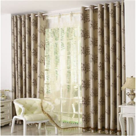 double curtains for living room window curtains modern brief double faced shade cloth