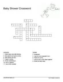 baby shower crossword free printable allfreeprintable