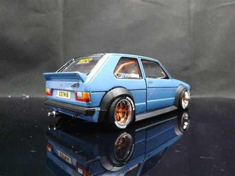 volkswagen modified 1 24 custom modified mk1 volkswagen vw golf gti racing