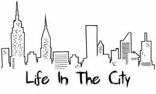 New York City Skyline Drawing Tumblr Sketch Coloring Page sketch template