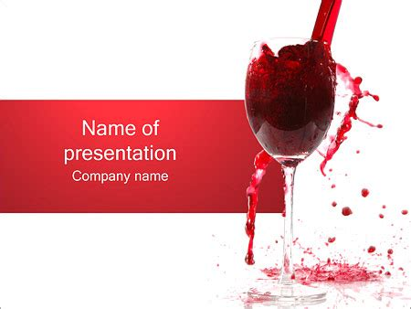 Red Wine Splashing Powerpoint Template Backgrounds Id 0000001434 Smiletemplates Com Wine Powerpoint Template