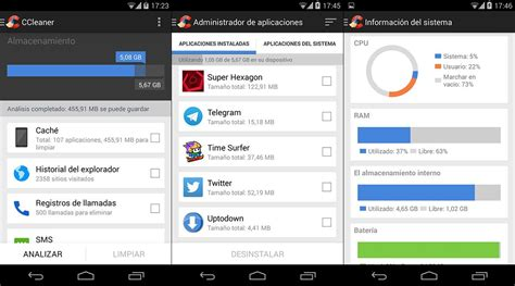ccleaner android ccleaner ahora tambi 233 n en android uptodown blog