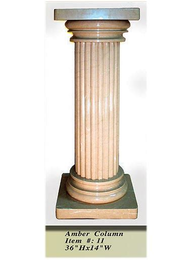 interior decorative column   amber onyx