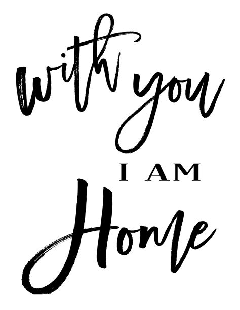 free printable with you i am home hymns and verses