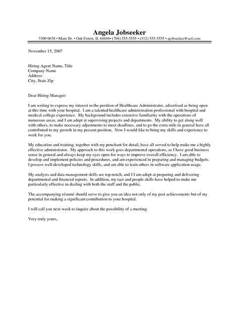 Nursing Home Administrator Cover Letter by Licensed Nursing Home Administrator Cover Letter Relevant