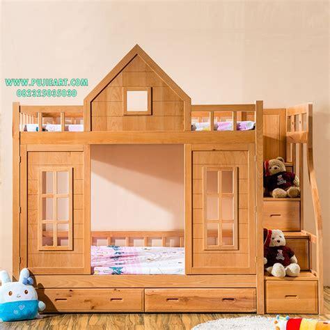 Tempat Tidur Kayu Anak tempat tidur tingkat anak kayu ranjang tingkat anak kayu