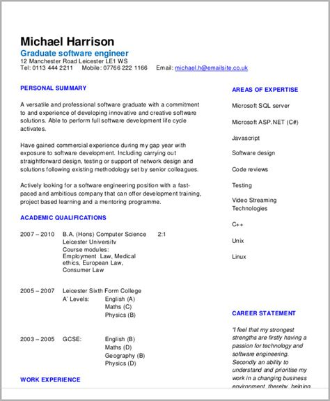 Software Engineering Resume Exle by 54 Engineering Resume Templates Free Premium Templates