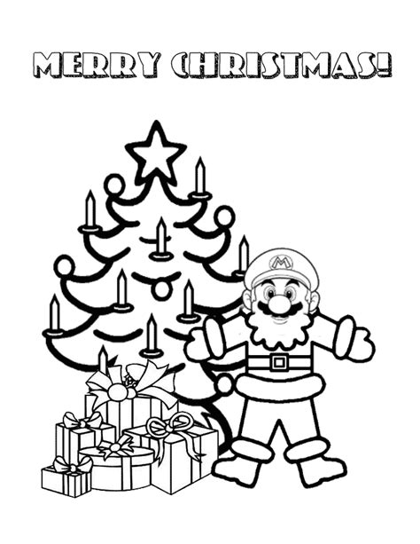 mosaic christmas coloring pages festival collections super mario christmas coloring pages festival collections