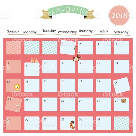Calendar 2018 January Colorful January 2018 Calendar With