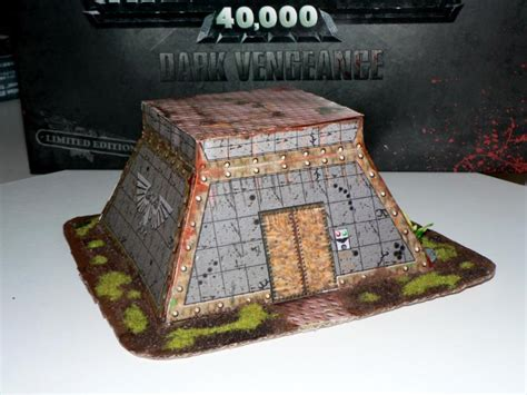 bunker paper papercraft terrain simple papercraft