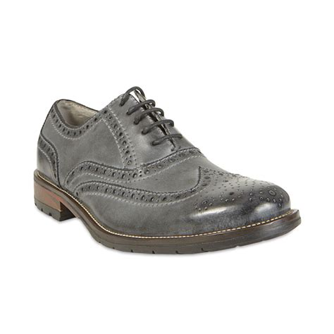 mens grey oxford shoes steve madden ethin2 wingtip oxfords in gray for lyst