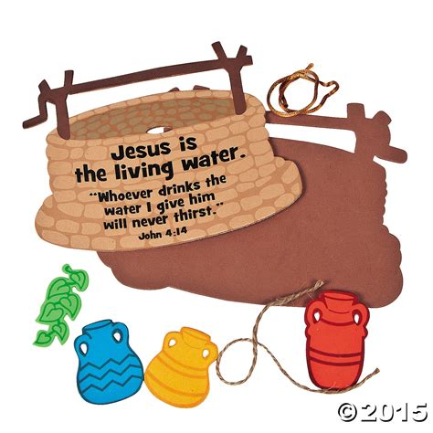jesus is the living water woman at the well quot jesus is the living water quot sign craft kit 12 pks party