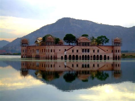 Beautiful Abandoned Places by Amazing Water Palace Jal Mahal Jaipur In India Photos