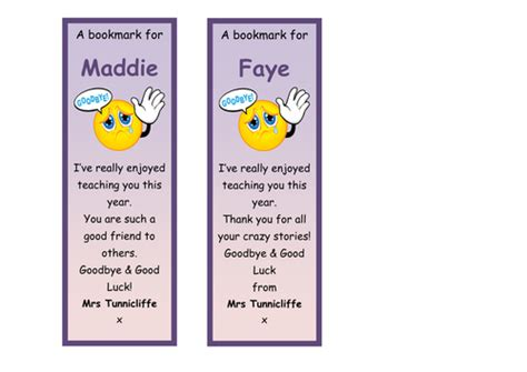 printable good luck bookmarks end of year class bookmarks by claire tunnicliffe