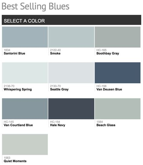 best blue colors best selling benjamin moore paint colors