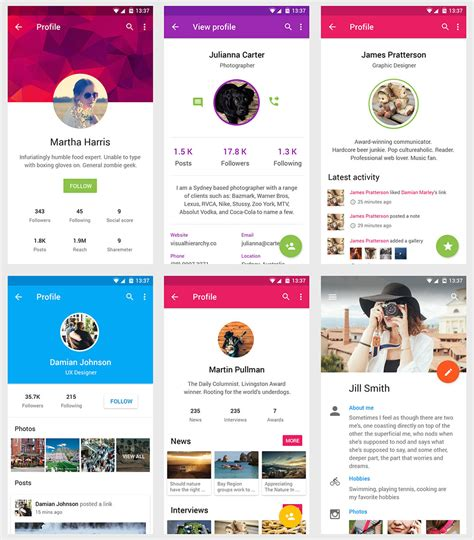 material design app kit vonn material design mobile ui kit visual hierarchy