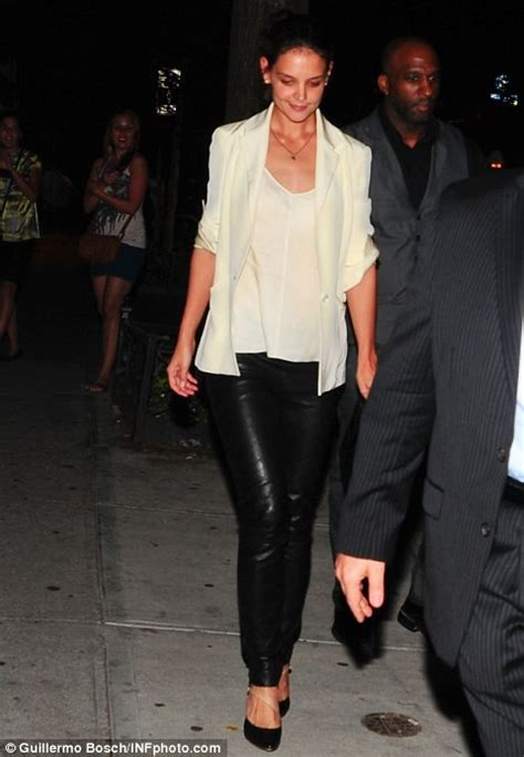 33 year old fashion for business dinner katie holmes dons tight leather trousers for dinner date