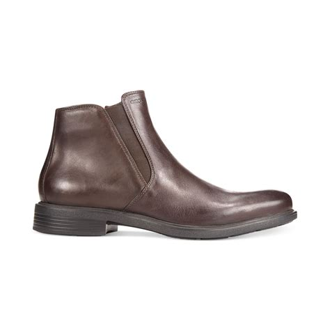 geox boots for geox claudio dublin chelsea boots in brown for lyst