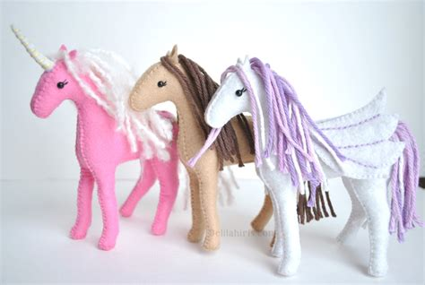 unicorn craft pattern felt unicorn horse or pegasus sewing pattern felt fun