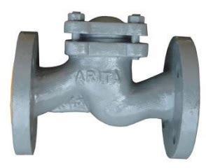 arita pn16 cast iron s pattern check valve flanged end