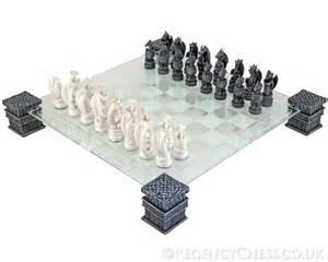 Dragon Chess Set by Dragon Chess Set With Glass Board Nem5427 163 55 11