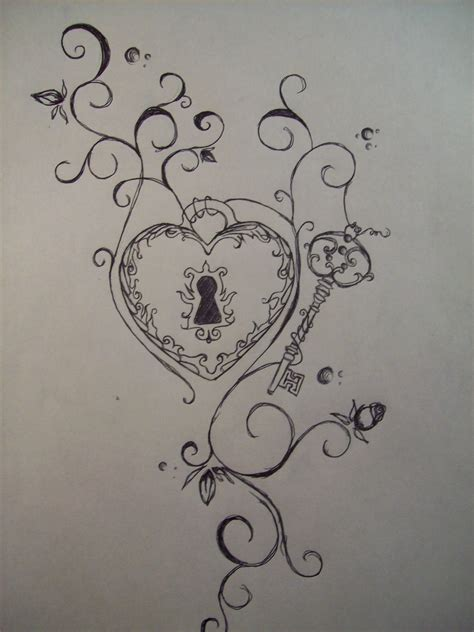 heart key tattoo design 30 lock and key ideas to unlock your