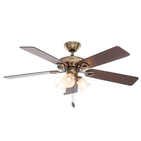 polished brass ceiling fan hton bay landmark plus 52 in indoor polished brass