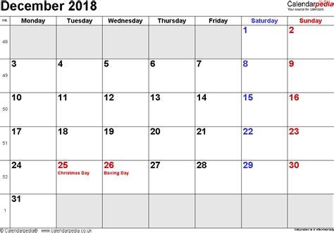 small printable december calendar calendar december 2018 uk bank holidays excel pdf word