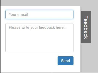 minimal side feedback form using jquery and bootstrap
