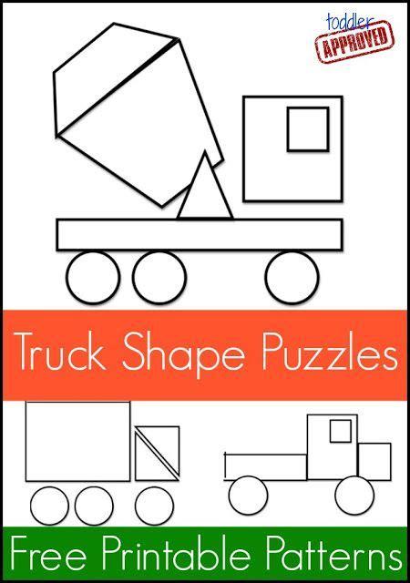 shape pattern maker mom project truck shape pattern puzzles shape patterns