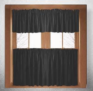 solid black kitchen cafe curtains