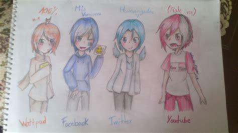 imagenes kawaii de redes sociales kawaii dibujos redes sociales