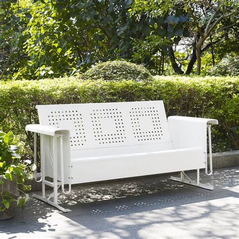 crosley bates sofa glider crosley bates sofa glider in white co1016 wh