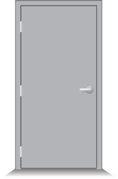 Commercial Exterior Steel Doors And Frames Temperature Rise Hollow Metal Doors
