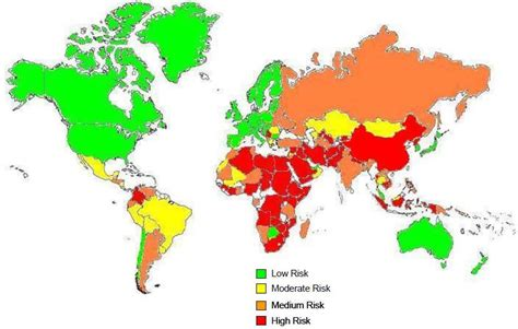 middle east unrest map political risk a heat map political risk america