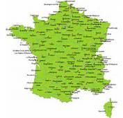 CARTE DE FRANCE  D&233partements R&233gions Villes Carte France