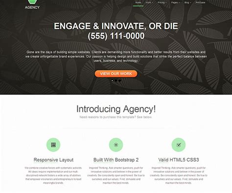themes bootstrap agency collection of 20 free bootstrap themes and templates 2014