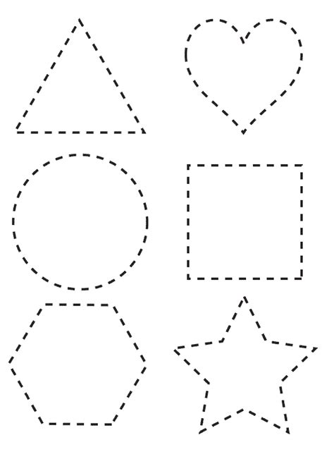 shapes templates shapes to color coloring pages