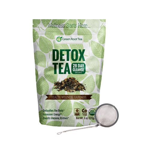 Herbal Detox by Organic Detox Tea Green Herbal Cleanse Teatox Infuser