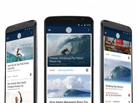 world surf league android app sketch freebie