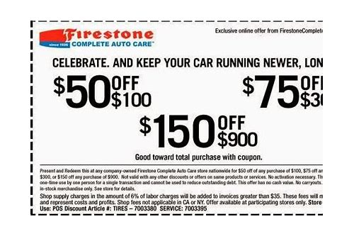 automobile tire coupons