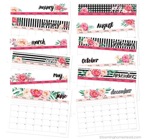 Blooming Homestead 2017 Calendar 1000 ideas about printable calendars on