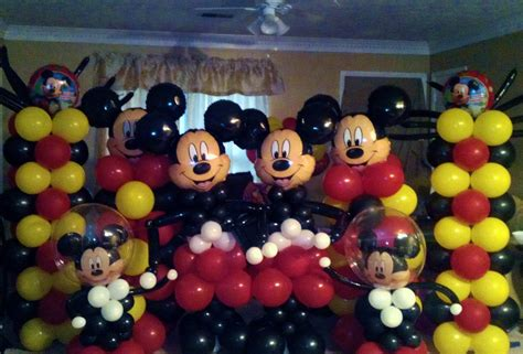 balloon decor mickey mouse theme mickey mouse balloon arch