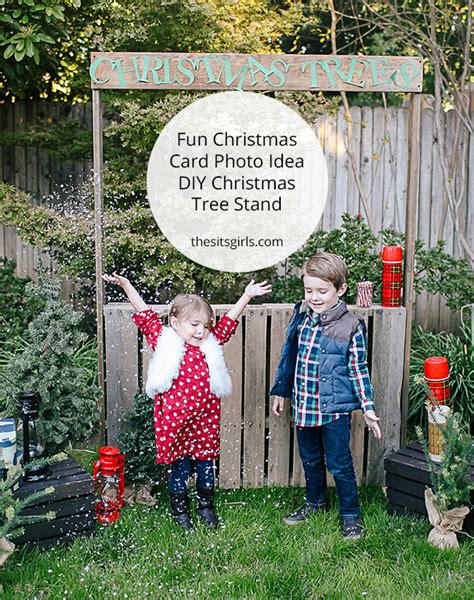 christmas tree too small for stand photo idea diy tree stand card photo