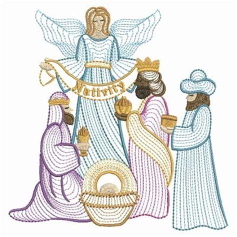embroidery design nativity scene nativity angel scene embroidery designs machine