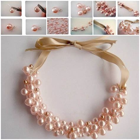pearl diy diy pearl cluster necklace