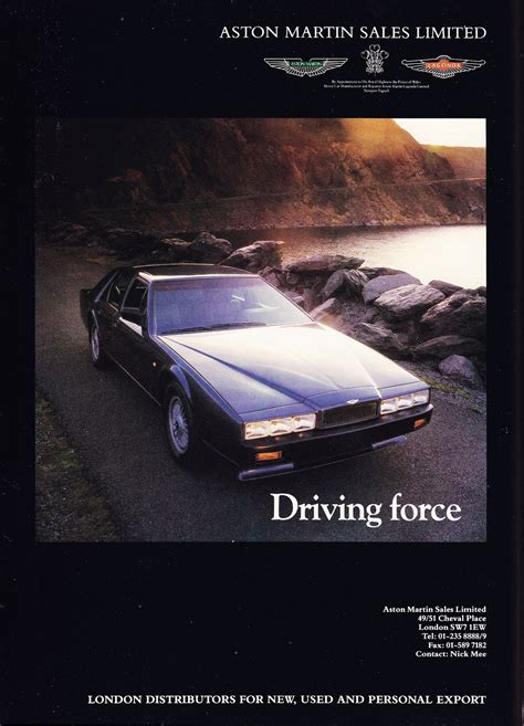 used aston martin ad retro car ads aston martin lagonda classics world