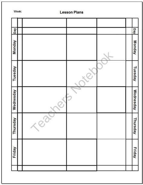 blank template preschool 25 best ideas about blank lesson plan template on weekly lesson plan template 5