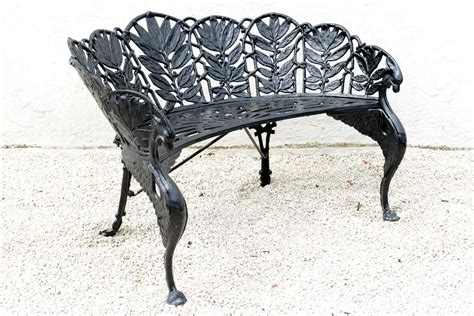 cast iron garden benches for sale pair of cast iron garden benches saturday sale at 1stdibs